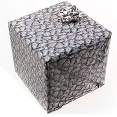 Minecraft Party Supplies, Minecraft Cobblestone Wrapping Paper