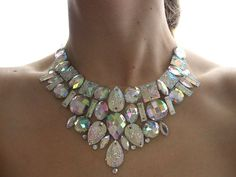 Hey, I found this really awesome Etsy listing at https://www.etsy.com/listing/105264550/crystal-ab-bridal-bib-necklace-clear-ab