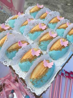 Lovely madeleines at a Cinderella birthday party! See more party planning ideas at CatchMyParty.com!