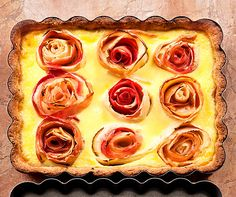 Apfel-Rosen-Kuchen