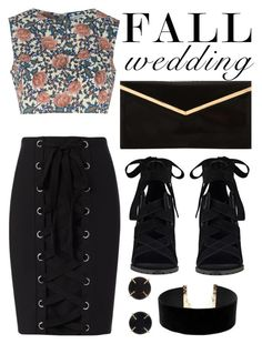"""""""Stay Classy"""" by inside-report ❤ liked on Polyvore featuring Exclusive for Intermix, Glamorous, Nine West, Melissa Joy Manning, LULUS and fallwedding"""