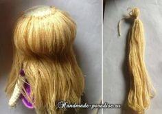 Как сделать волосы куколке амигуруми (10)