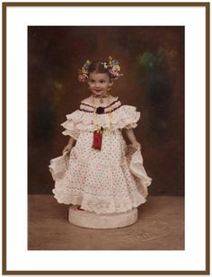 Hand Colored 1930's Sepia Photograph of Beautiful Child in Costume. Collectible Vintage Wall Decor of Real Live Doll. by VintageArtForLiving on Etsy https://www.etsy.com/listing/502407532/hand-colored-1930s-sepia-photograph-of