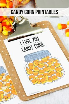 Super fun and adorable Candy Corn Printables.  I love you more than.... candy corn and/or candy corn and peanuts.  Which is your favorite?  Grab your printable at livelaughrowe.com #printable #candycorn