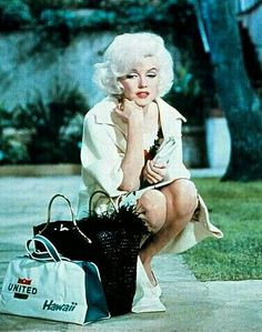 """Marilyn on the set of """"Something's Got To Give"""", 1962."""