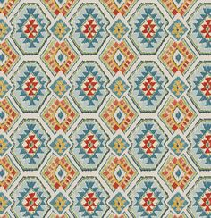 This is a discontinued pattern on sale. A traditional ikat upholstery and drapery fabric in blue, red, light green, yellow, light blue and ivory. This multipurpose fabric is suitable for all furniture upholstery including heavy use pieces such as sofas and living room chairs. Can be used for outdoor furniture. PLEASE NOTE: Due to limited yardage based on the discontinuation of this design, we are unable to provide any sample cuts.  FABRIC BY THE YARD:  *The listing price is per yard…