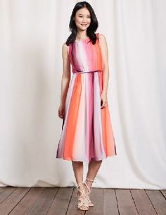 2cd3f313390  Boden Maria Dress Ombre Stripe Women Boden