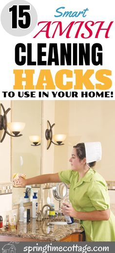 Amish cleaning hacks that are so good that you have to try them on your next cleaning session. The Amish are simple people, but they are clever and they do things in a simple and clever. Here are some Amish cleaning hacks you will find awesome. Bathroom Cleaning Hacks, Household Cleaning Tips, Toilet Cleaning, House Cleaning Tips, Spring Cleaning, Cleaning Supplies, Diy Home Cleaning, Green Cleaning, Cleaning Hacks Tips And Tricks