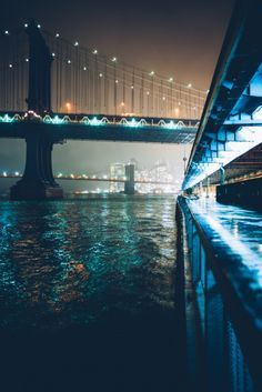 bridges of new york at night | travel destinations in the united states + architecture #wanderlust