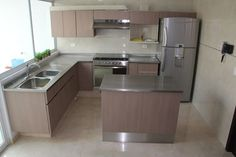 Kitchen Room Design, Kitchen Cabinet Design, Home Decor Kitchen, Kitchen Interior, Living Room Corner Furniture, Small Kitchen Makeovers, Kitchen Models, Cuisines Design, Apartment Kitchen