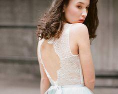 Ulyana // Bohemian wedding dress  Wedding gown  Boho wedding by Milamirabridal | Etsy