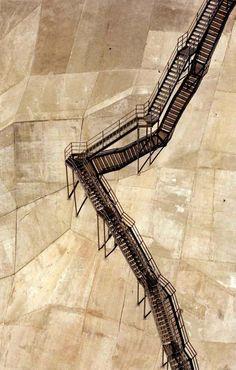 "moodboardmix:  ""Stairway to Heaven"".Maintenance stairway. Coolidge Dam, Arizona. Joe brilla Photography."