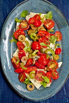 Bloody Mary Salad. The thought of a Bloody Mary has never really appealed to me, tomato juice kind of grosses me out. However, this salad sounds amazing! I substitute goat cheese for the blue cheese, though. Another party favorite.