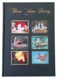 Customized Disney Diary  【楽ギフ_包装】3年日記 ディズニーキャラクター 名入れなし(連用日記)【楽天市場】
