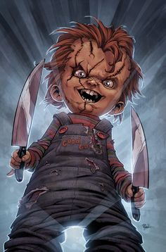 """Chucky as seen in """"Bride Of Chucky"""" and """"Seed Of Chucky"""", the fourth and fifth movies in the """"Child's Play"""" series."""