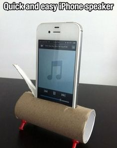 Easy DIY IPhone speaker how did I Not think of this