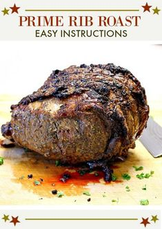How to Cook a Prime Rib Roast. Cooking a prime rib for a small number of people can be tricky. This turned out perfect. And with enough for leftovers. Here's a recipe that will guarantee the right balance between outer crust and inner rare. Perfect for y Cooking Prime Rib Roast, Slow Roasted Prime Rib, Smoked Prime Rib Roast, Prime Rib Of Beef, Cooking A Roast, Smoked Ribs, Boneless Prime Rib Recipe, Rib Roast Recipe, Lamb Recipes