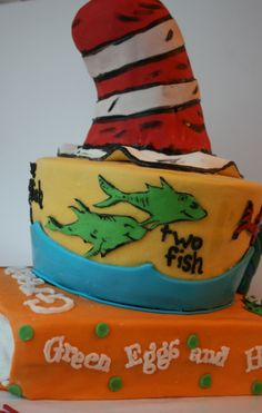 Dr Seuss — Children's Birthday Cakes.  I'm usually not crazy about spending big bucks on a children's decorated cake like this.  But Dr Suess?  Nothing could be better for a kid!