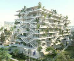 French architects unveil exciting 'inside-out' design for a bio-climatic office building