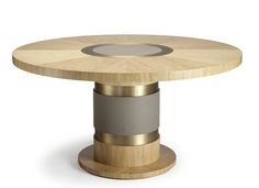 Lune Table Contemporary, Transitional, Metal, Wood, Dining Room Table by Carlyle Collective Coffee Table To Dining Table, Furniture Dining Table, Oak Table, Dining Furniture, Luxury Furniture, Furniture Design, Furniture Storage, Boutique Interior Design, Luxury Dining Room