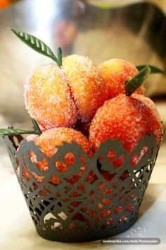 """peaches"", traditional croatian recipe My Aunt used to make these for us. So pretty and delish!"