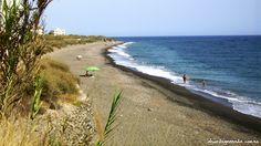 Playa Las Cañas. Melicena. Sorvilán. Granada. Andalucía.