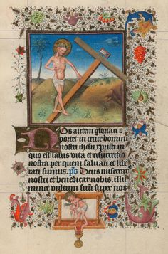 Man of Sorrows and the Cross | Hours of Catherine of Cleves | Illuminated by the Master of Catherine of Cleves | ca. 1440 | The Morgan Library & Museum