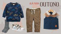 Os dias frios de outono já chegaram e os nossos pequenos piratas precisam de se manter na moda. O conjunto de peças de várias marcas, por menos de 67€! #bebé #menino #roupa #outono #miúdos #criança #moda