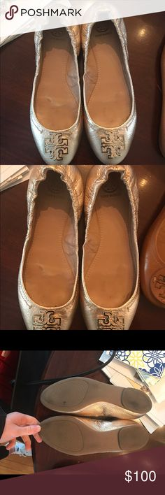 Tory birch flats Tory flats size 7 barely worn Tory Burch Shoes Flats & Loafers