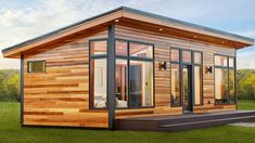 Absolutely Stunning 601 Sq Ft Aspen Small House by Dickinson Homes Tyni House, Tiny House Cabin, Small House Plans, Nutec Houses, Tiny House Listings, Cabins In The Woods, Little Houses, Small Houses, Prefab