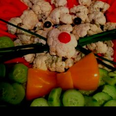 Easter bunny veggie tray
