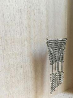 Sautoir en cotte de Maille Métal argenté