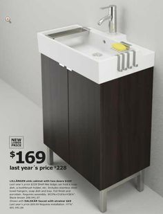 From Ikea Usa 2017 Catalog Bathroom LillÅngen Sink With Matching Cabinet Dislike The
