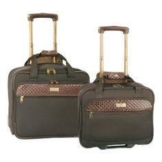 Tommy Bahama Luggage Nassau 2 Pc Weekender Set, Dark Brown/Brown, One Size (Misc.)