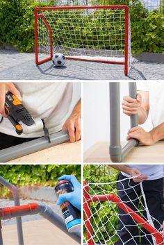 Portería con tubos de PVC ➜ Los partidos de fútbol ahora se juega en tu casa… Más