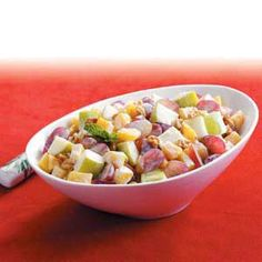 "Creamy Fruit Salad Medley Recipe -""I'm on a low-fat diet,"" explains Gerldean Cade from Brookhaven, Mississippi. ""So I created this light, refreshing recipe using my favorite fruits to take to church quiltings for lunch. And everyone just loves it!"""