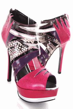 fuchsia pink prom heels