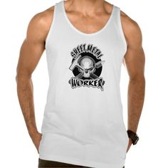 Sheet Metal Worker Skull Tank Tank Tops