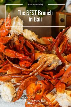 Looking for the best brunch in Bali? Check out the Sunday brunch at the W Bali in Seminyak for wall to wall seafood, and bottomless drinks!