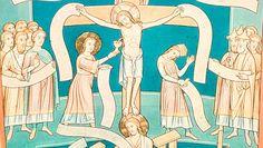 German Crucifixion fresco. Documenta: Alegorías: Ecclesia et Synagoga