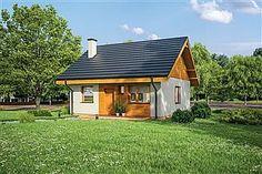 Projekt domu Murator C333j Miarodajny - wariant X 86,6 m2 - koszt budowy 174 tys. zł - EXTRADOM Home Fashion, Shed, Outdoor Structures, Cabin, House Styles, Home Decor, Projects, Lean To Shed, Room Decor