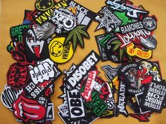 Lot of 25 Wholesale Music Rock Band Metal Punk Iron On Patch Embroidered Sew #11 #Unbranded #Embroidered