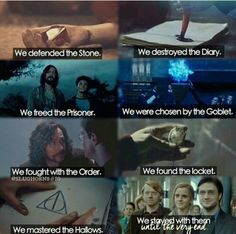 Explanation of the roles of the Golden Trio in the Harry Potter books...