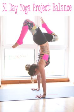 Pin now and join in on the 31 Day Balance Yoga Project