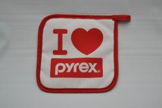 034-I-Love-Pyrex-034-Potholder-Quilted-Pot-Holder-Vintage-Unused