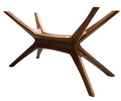 Bauhaus architectural Star Base Solid Walnut by VTCollection