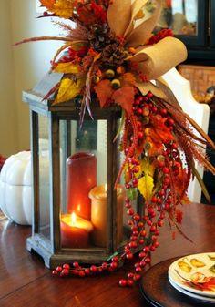 fall hurricane lanterns | Fall Lantern