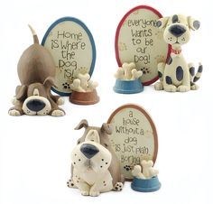 Set of 3 Dog Plaques with Bones  $26.97