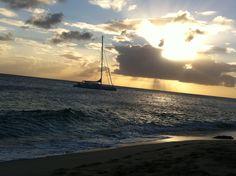 Sunset Cupecoy beach
