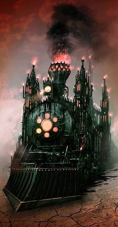The ghost train is coming to Samhain bringing the spirits of our ancestors, loved ones, and ghosts to commune with us. http-//www.luismelo.net/?page_id=760 <3
